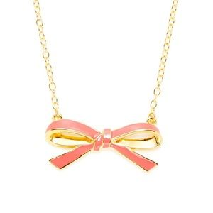 Kate Spade Pink Bow Necklace